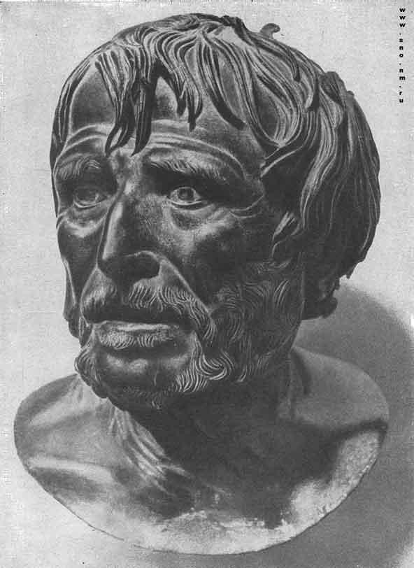 бронзовый бюст неизвестного философа