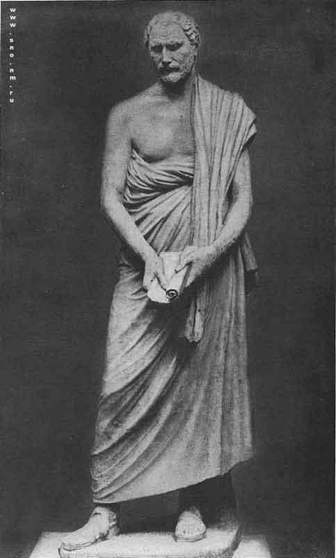 статуя афинского оратора Демосфена