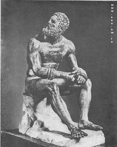 статуя кулачного бойца